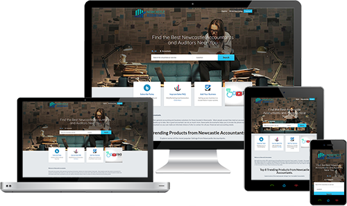 Newcastle Accountants displayed beautifully on multiple devices